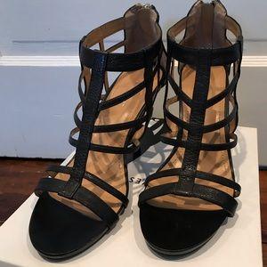 Nine West Black leather high heels Size 9 EUC